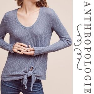 Anthropologie Left Of Center Knot Front Sweater